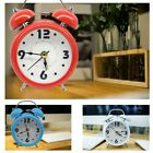 Silent Analog Alarm Clock Twin Bell Vintage Retro Classic Night Light Extra Loud