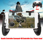 US 4 In 1 Mobile Phone Game Gamepad Joystick Controller Trigger Shooter For PUBG