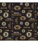 BOSTON BRUINS NHL HOCKEY 100% COTTON FABRIC MATERIAL CRAFTS BY THE 1/2 YARD $8.91 USD on eBay
