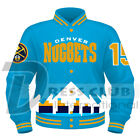 Denver Nuggets Sky Blue Printed And Embroidered Full-Snap Varsity Sports Jackets on eBay