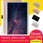 10.1'' 64GB Android 8.1 Tablet PC Octa Core 10 Inch HD WIFI 2 SIM 4G Phablet QL