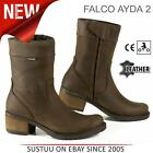 Falco Ayda 2 Motorcycle/ Motorbike Women's Leather Boots│CE App.│Brown│All Sizes