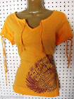 nwt HARLEY DAVIDSON *Speed Hipster* Bright Sherbet  V-String Blouse Tee Shirt $34.99 USD on eBay