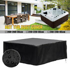 Hot Tub Cover Cap Anti-UV Heat-resistant Protector With Spring Stoppers US