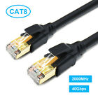 Ethernet Cable CAT8 Ultra High Speed 40Gbps 2000MHz LAN Patch Cord 1.6-100ft Lot