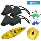 4PCS Silicone Kayak Scupper Plug Kit Canoe Drain Holes Stopper Bung Accessories