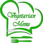 Vegetarian Menu DECAL Choose Your Size Concession Food Truck Sticker