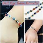 Newborn Baby/Childrens Boys/Girls Gold Filled Evil Eye Bracelet, For Protection