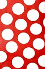 Polka Dots Spring Easter Flannel backed Vinyl Tablecloths. Round, Oblong, Square