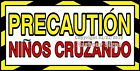 CHOOSE YOUR SIZE Precaution Ninos Cruzando DECAL Concession Truck Sticker