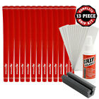 Karma Velour Red Golf Club Grip Kit (13 Grips, Solvent & Double-Sided Tape)