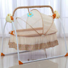 Electric Baby Crib Cradle Swings Infant Sleeping Bed W/ Music/ Mattress/ Pillow