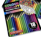 10 18 30 Premium Adult Colouring Pencils  Artists Quality Colour Therapy in Tin