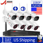1080P 2Way Audio Camera CCTV Home Security System Wireless 8CH NVR Set Day Night