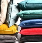 Luxury Plain Soft French Velvet Piped Cushions Scatters Home Decor Cover/filled