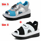 2pcs/Set Women's Platform High Heel Sandals Ladies On Flat Beach Casual Shoes US