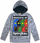 Boys Jumper Lego Ninja Top Cotton Long Sleeve Hooded T-shirt Kids Age 4-12 Years