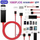 HDMI Mirroring Cable Phone to HDTV Adapter For iPhone 12/11/Pro/Max/XR,SE/6/7/8
