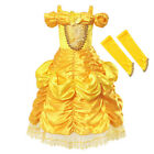 Kids Princess Dress Up for Girls Elsa Anna Belle Halloween Party Cosplay Clothes