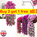 Artificial Fake Hanging Flowers Vine Plant Home Garden Decoration In&outdoor Cf
