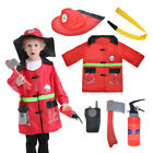 TOPTIE Child Firefighter Costumes, Kids Fire Chief Role Play Costume Set