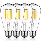 Dimmable LED Light Bulb - Edison Style - 4 PK / 8 PK - Warm White / Cool White