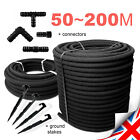 SPECIAL SETS /// POROUS PIPE Soaker Hose Leaky Garden Irrigation System 50m~200m