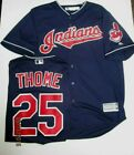 JIM THOME CLEVELAND INDIANS JERSEY COOL BASE SIZE LARGE MAJESTIC NEW