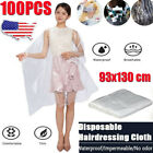 100PCS Disposable Salon Barber Gown Apron Hair Cutting Cloak Hairdressing Capes