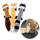 Plush Bite Resistant Dog Chew Toys Vocalization Molars Toothbrush Raccoon Toy