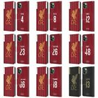 LIVERPOOL FC 2019/20 PLAYERS HOME KIT GROUP 2 PU LEATHER BOOK CASE APPLE iPHONE