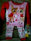 NEW - Girl's Rudolph the Red Nose Reindeer Christmas Pajamas 2T, 3T, 5T