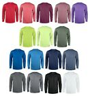 Reebok Mens Poly Wick dri-fit Tee Work out Gym S-5XL Long Sleeve Sport T-shirt image