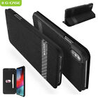 For iPhone XS Max X Case Slim Nylon Card Slot Wallet Shockproof Stand Full Cover