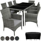 8 Seater + Table Rattan Garden Furniture Dining Chairs Set Outdoor Wicker New