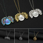 You Are My Sunshine Engraved Open Locket Sunflower Necklace Jewelry Pendant