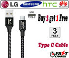 For Samsung Galaxy S10 S9 S8 Note LG G6 HuaWei P20 3/6/10Ft Type-C Cable Charger