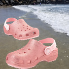 NWT CROCS Classic Glitter Girls Clogs Blossom Pink SELECT SIZES