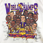 VTG LOS ANGELES LAKER T Shirt 1987 World Champs The Drive For Five Reprint A1238 image