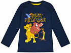 Boys Lion King Long Sleeve Top Kids New Disney Baby Top Navy Ages 9 - 24 Months