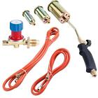 Propane Butane Gas Torch Burner Blow Kit Plumbers Roofing Brazing Soldering Set