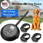 Electric Wireless Pet Dog Fence Containment System Shock Collars For 1/2/3 Dogs