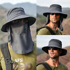 Kyпить Hot Fishing Bucket Hat Outdoor Sport Sun Protection Neck Face Flap Cap Wide Brim на еВаy.соm