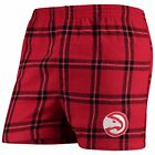 Atlanta Hawks Concepts Sport Homestretch Flannel Boxer Shorts - Red on eBay