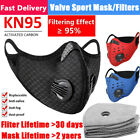 Cycling Sports Mask Mouth Face Shield Reusable & Activated Carbon Fliter Pads