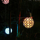 Waterproof LED Solar Crystal Ball Light Color Changing Garden Hanging Lamp Decor