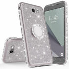 For Samsung Galaxy S7 S8 S9 Glitter Bling Diamond Ring Holder Stand Case Cover