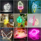 Large 3D Neon Sign Light LED Wall Visual Art Decor Bar Shop Bedroom Lamp Gifts