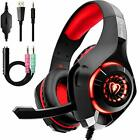 Gaming Headset for PC, Comfort Noise Reduction Crystal Clarity 3.5mm LED