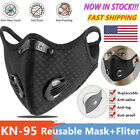 Reusable Face Mask Breathing Valve With Activated Carbon Filter Pad Mouth Covers